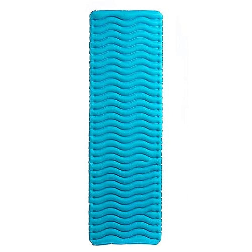 豪華なマウントバンク有名YBJPshop 寝袋 寝台厚手ポータブルシングルダブルウルトラライトキャンプテントインフレータブルクッション 寝袋の裏地、キャンプ、登山旅行 (Size : Blue)