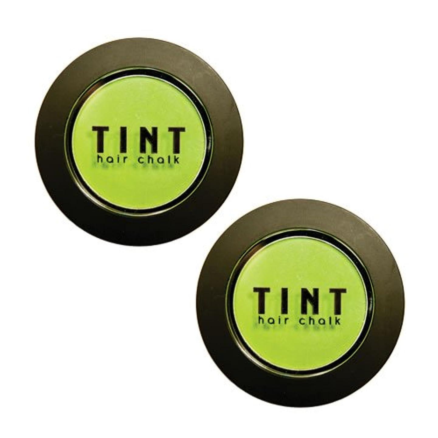 ペン繰り返した傑出したFINE FEATHERHEADS TINTヘアチョーク Luscious Lime 2個セット