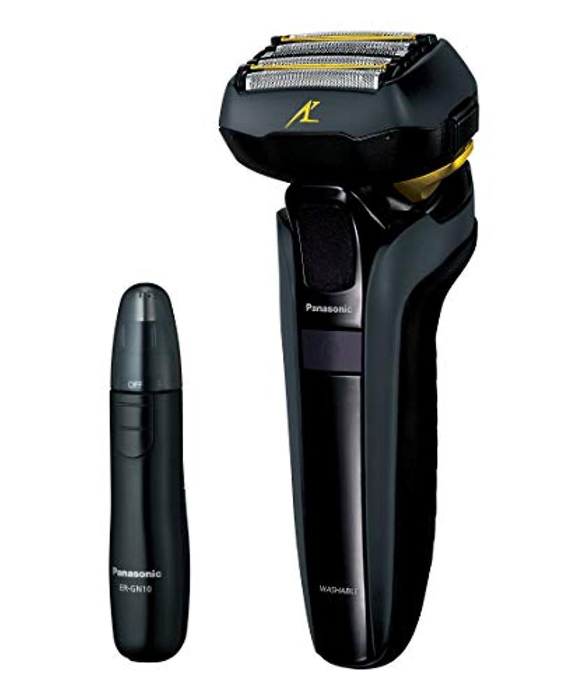 宣伝ウイルス血色の良いパナソニック ラムダッシュ メンズシェーバー 5枚刃 黒 ES-LV5D-K + エチケットカッター セット