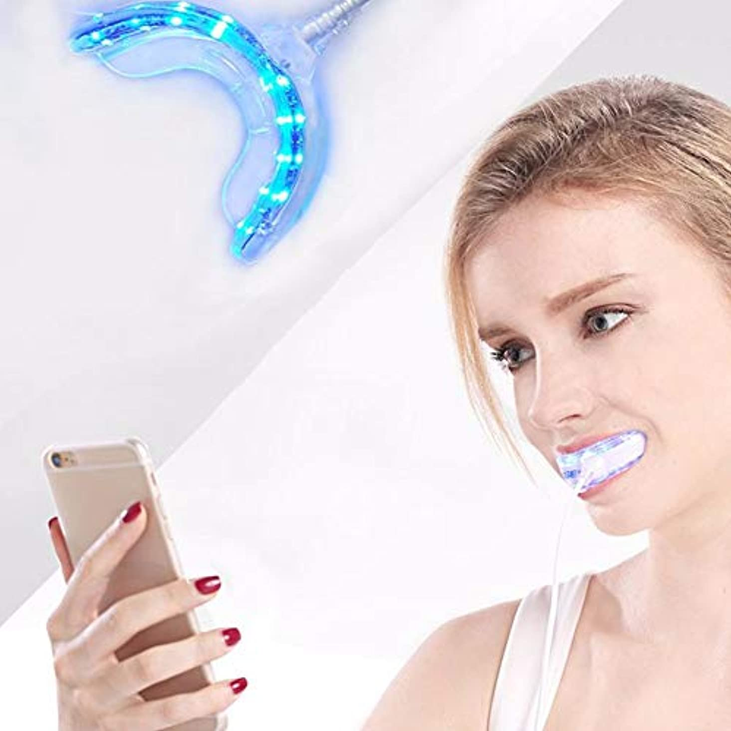 感謝祭環境保護主義者オーロック人間の特徴をもつIOSの歯科漂白システム防水歯を白くするための装置3 USB港を白くする携帯用スマートなLEDの歯