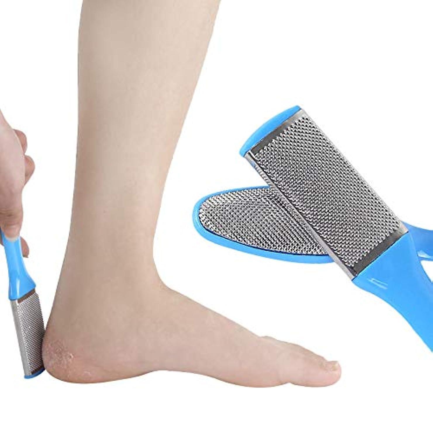 とんでもない水を飲む資源yuio 男性用女性用ペディキュアセット8個フットファイルフットラスプ乾いた足と濡れた足に最適なカルスリムーバー、角質除去、ハードスキン、外科用グレードのステンレスファイル