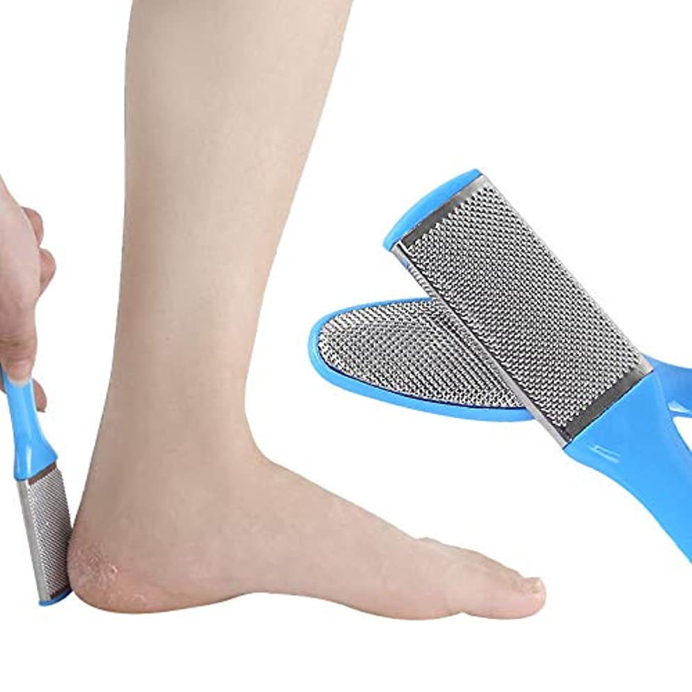 怠けた開梱トラフyuio 男性用女性用ペディキュアセット8個フットファイルフットラスプ乾いた足と濡れた足に最適なカルスリムーバー、角質除去、ハードスキン、外科用グレードのステンレスファイル