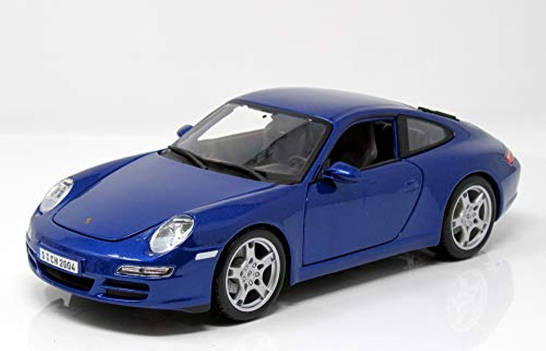 ポルシェ911カレラS ( 997 )、metallic-blue、モデルカー、品、マイスト1 : 18