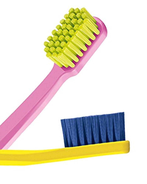 コーナー公使館電圧Ultra soft toothbrush, 4 brushes, Curaprox 5460. Better cleaning, softer feeling in vibrant His & Hers colours...