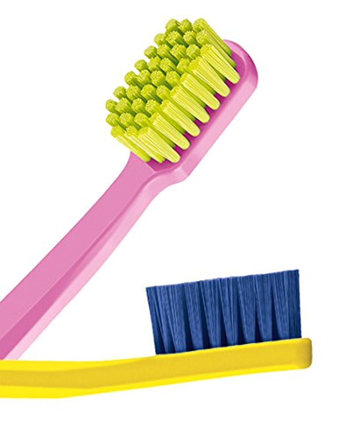 数学的な欲しいです雑品Ultra soft toothbrush, 4 brushes, Curaprox 5460. Better cleaning, softer feeling in vibrant His & Hers colours...