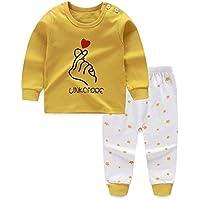 LUKEEXIN Autumn Baby Girls Boys Pajamas Cartoon Print Sleepwear Sets Kids Long Sleeve Blouse Tops+Pants 0-6Y