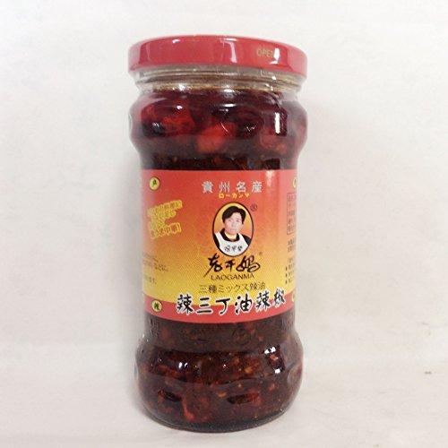 老干媽 辣三丁油辣椒 三種の唐辛子具入りラー油 激辛 280g