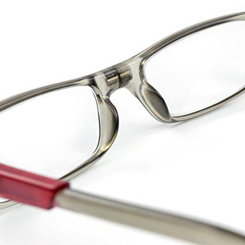 TON CHARME (トンチャーメー) おしゃれ 首に掛けられる 老眼鏡 メガネ 軽量 高品質 耐久性 マグネット付き (+2.00, グレー)