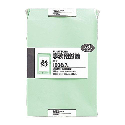 マルアイ クラフト封筒 角2 グリーン 100枚入 PK-121G グリーン 00060988 【まとめ買い3セット】