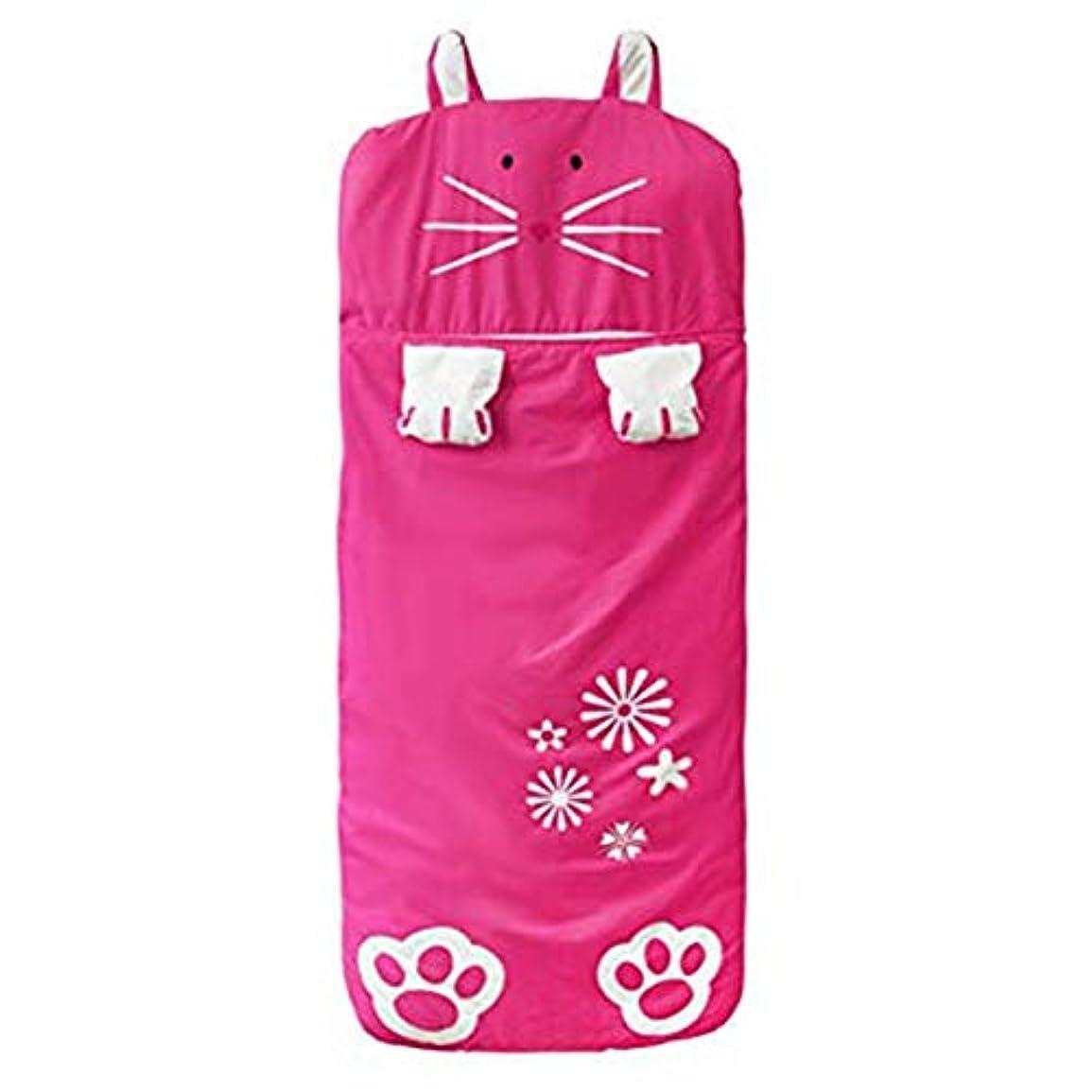 手当浪費旅客ACHICOO 寝袋 かわいい ウサギのデザイン 子供 厚い ローズレッド_140 * 60