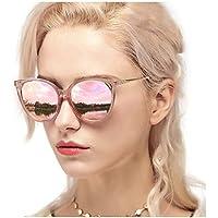 Myiaur Cat Eye Mirror Sunglasses Women Polarized UV Protection Fashion Style Design
