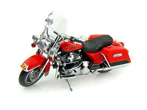 ダイキャスト バイク 2010 ハーレーダビッドソン FLHR Road King レッド/ブラック 1/12