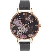 Olivia Burton オリビアバートン WINTER GARDEN HYDRANGEA BLACK & ローズゴールド 38mm 女性 レディース 腕時計 OB15WG12 [並行輸入品]