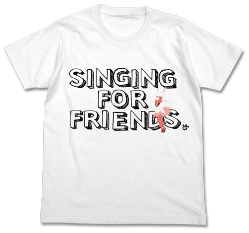 Beast friends sing crested T shirt White size L