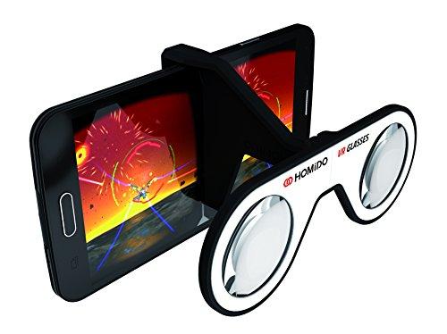 HOMiDO Mini VR グラス 4-6インチ対応 スマホに取付けるだけ ポケットサイズ、軽量、折りたたみ式