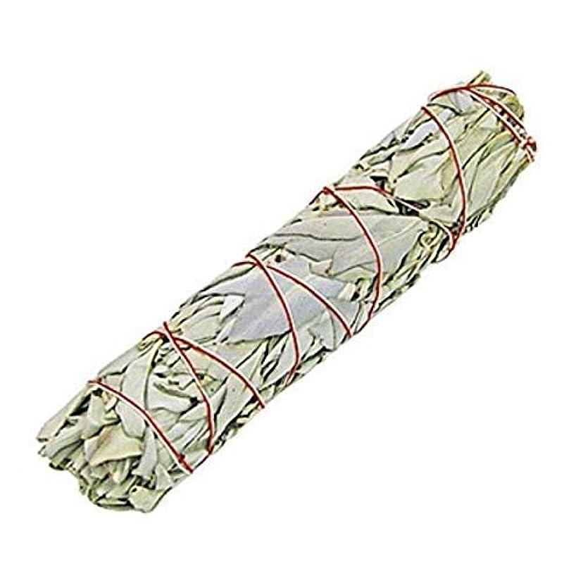 粘土理由正確なIndian White Sage Smudge Sticks, 6 Inch Long, Home Cleansing, Blessing, Manifesting, 1 Sticks (100 Grams)