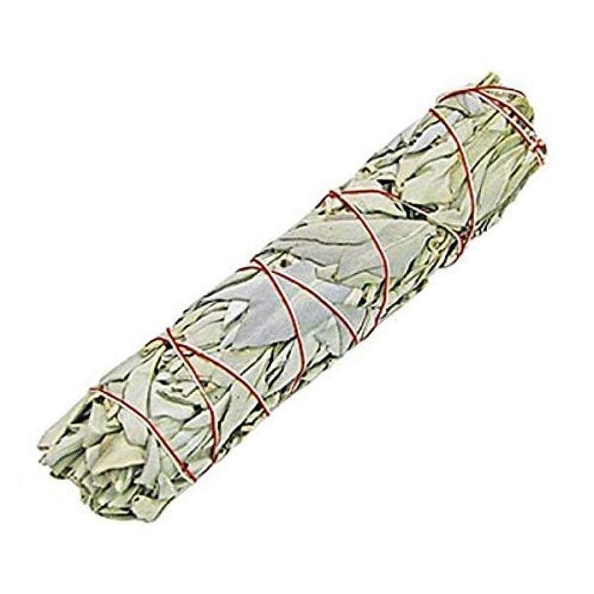 辞任対人コークスIndian White Sage Smudge Sticks, 6 Inch Long, Home Cleansing, Blessing, Manifesting, 1 Sticks (100 Grams)