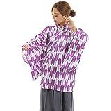 マジックナイト 矢がすり着物 上衣 紫 和風 コスチューム 160cm-175cm
