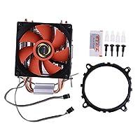 低消費電力 PC用 CPUクーラー 9cm冷却ファン ラジエーター ヒートシンク 銅ヒートパイプ