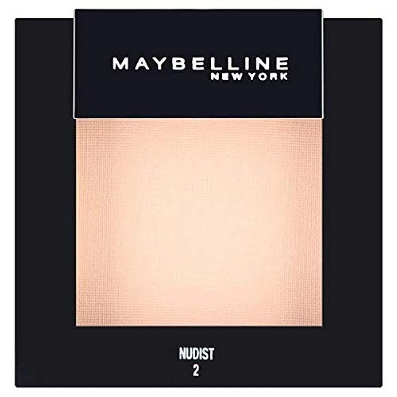 木なんでもアナログ[Maybelline ] メイベリンカラーショーシングルアイシャドウ02ヌーディスト - Maybelline Color Show Single Eyeshadow 02 Nudist [並行輸入品]