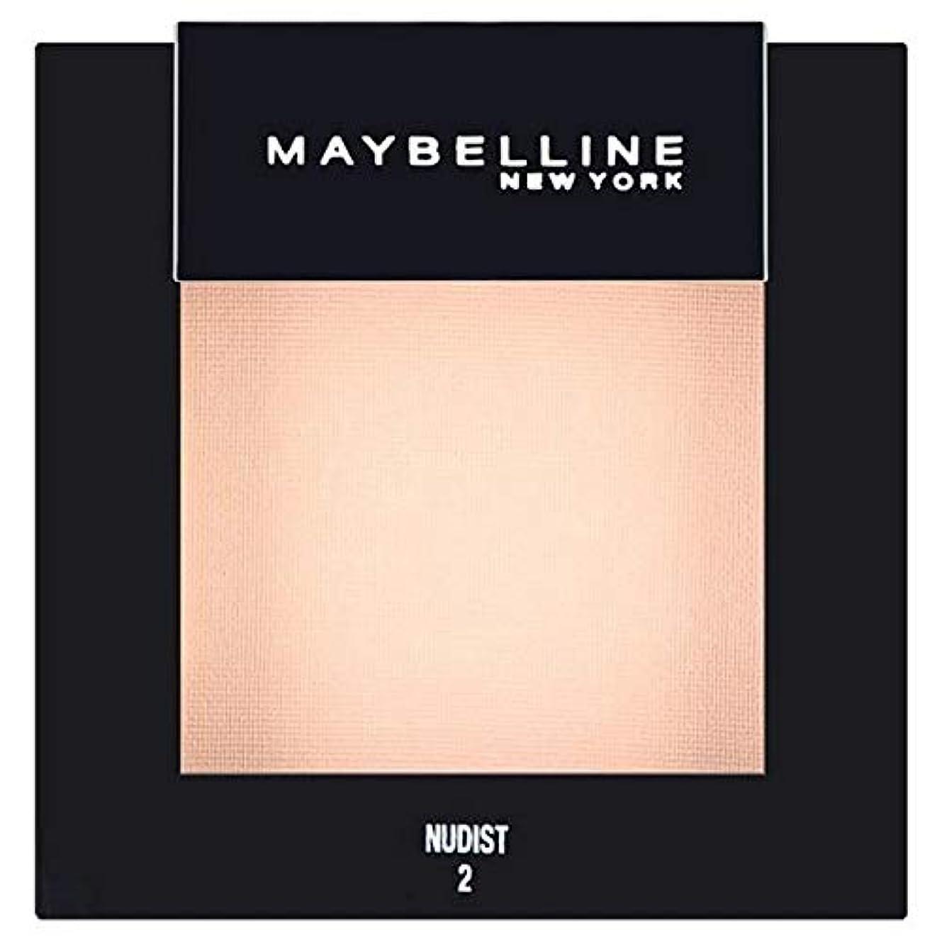 ソーシャル固めるエコー[Maybelline ] メイベリンカラーショーシングルアイシャドウ02ヌーディスト - Maybelline Color Show Single Eyeshadow 02 Nudist [並行輸入品]