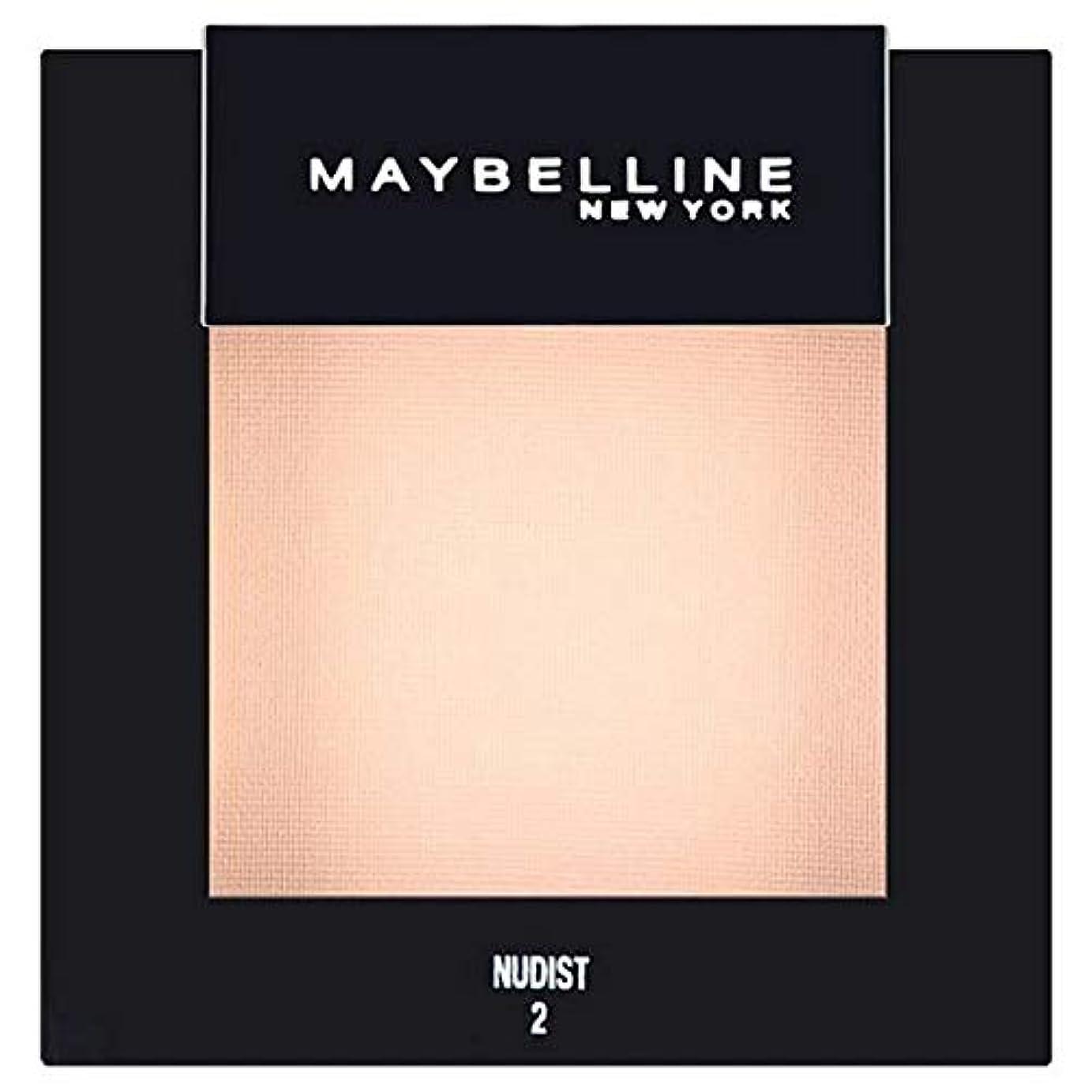 表面的な始まり記述する[Maybelline ] メイベリンカラーショーシングルアイシャドウ02ヌーディスト - Maybelline Color Show Single Eyeshadow 02 Nudist [並行輸入品]
