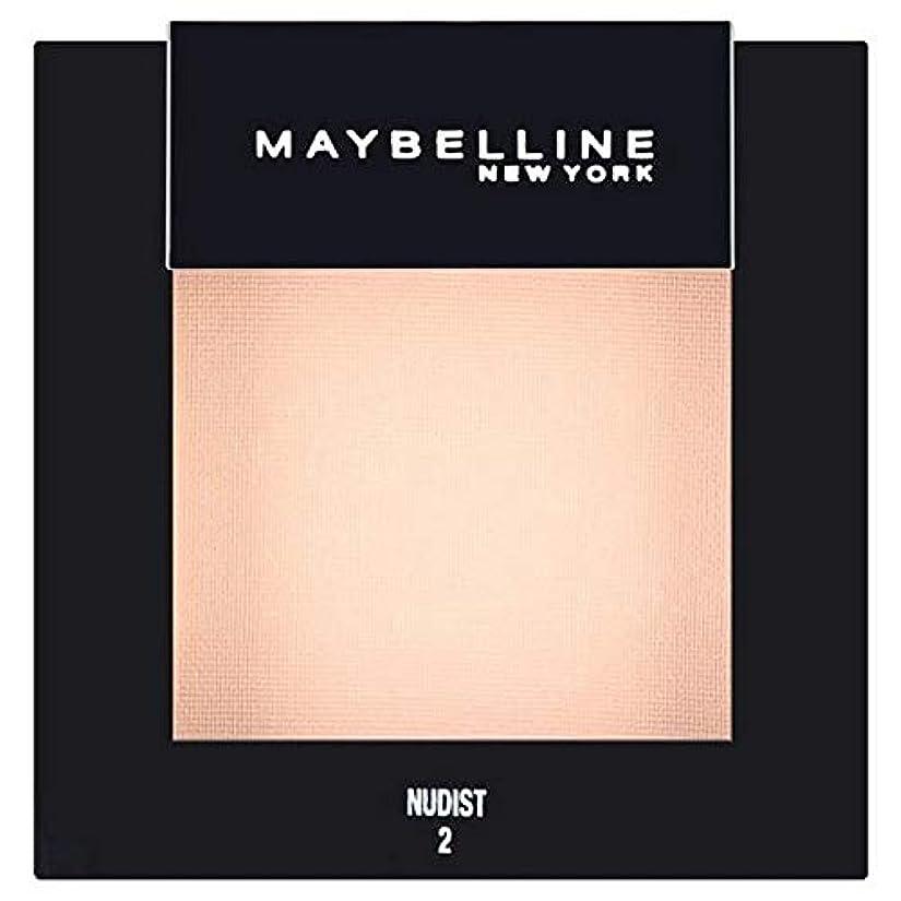 爆弾反動宝石[Maybelline ] メイベリンカラーショーシングルアイシャドウ02ヌーディスト - Maybelline Color Show Single Eyeshadow 02 Nudist [並行輸入品]