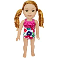 My Brittany's Hibiscus Swimsuit for Wellie Wisher Dolls