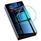 10400mAh モバイルバッテリー 軽量 薄型 大容量 3USBポート 3.1A 急速充電 LEDライト付き 持ち運び 急速充電器 iPhone&Android対応 (ホワイト)