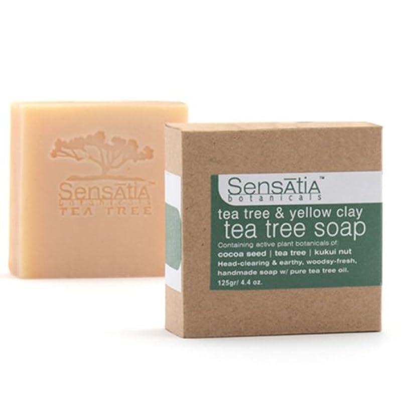 ナイロン剃るのためにSensatia(センセイシャ) ティーツリーソープ イエロークレイ 125g
