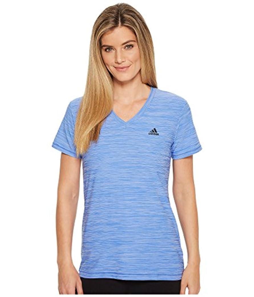 力強い体操選手ポーズ(アディダス) adidas レディースタンクトップ?Tシャツ Tech Tee Hi-Res Blue S