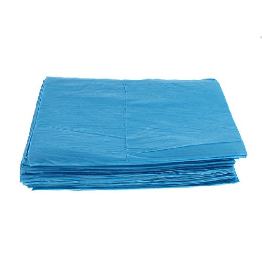 ペイントサラミ接続された10枚 使い捨て ベッドシーツ サロン ホテル ベッドパッド カバー シート 2色選べ - 青