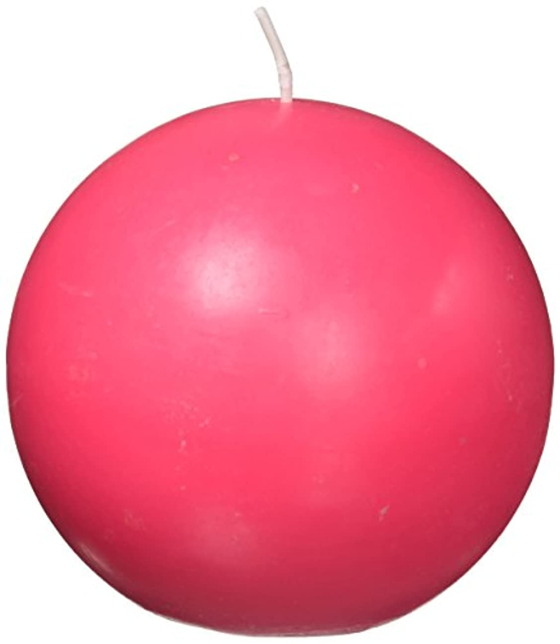 フルートセレナゼリーZest Candle CBZ-027 4 in. Hot Pink Ball Candles -2pc-Box