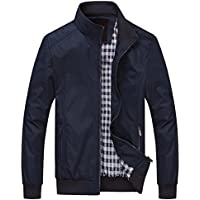 chouyatou Men's Active Lightweight Softshell Zipper Bomber Jacket