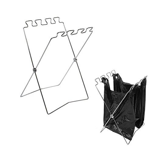 caffmo ゴミ袋ハンガー 折り畳み 式 ゴミ箱 ゴミ袋&レジ袋スタンド コンパクト 分別