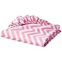 Circo? 100% Cotton Woven Chevron Fitted Baby Crib Sheet pink [並行輸入品]