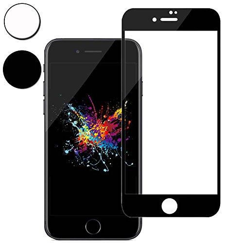 iPhone8 フィルム,【世界最強の3D ゴリラガラス】 iPhone 8 アイフォン 8 ガラスフィルム アイフォン8 強化ガラス 全面保護フィルム ANISYO アメリカ素材製/高精細/硬度9H+(iPhone 8,ブラック)