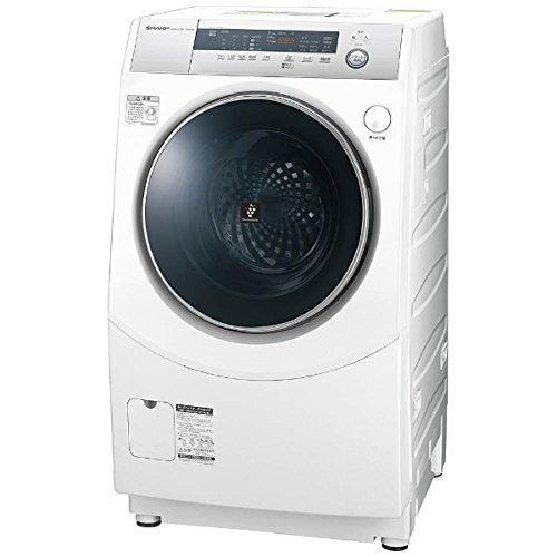 シャープ ドラム式洗濯乾燥機 10kg ホワイト系 ES-H1...