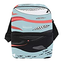 ビジネスアイスパック キャンバスバックパック 旅行用バックパック 極薄バックパック リュックサック 海のクジラ アニマル柄 大容量 ファッション 耐久性 多機能 ショッピング 学校