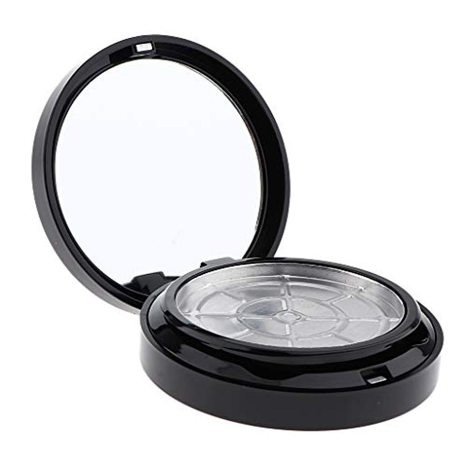 テセウス最終的に本土パウダーケース アルミ皿 空箱 化粧品容器 2色選べ - ブラック