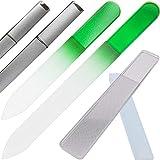 3点セット 爪やすり ネイル ケア 爪磨き ガラス製 専用 ケース付 ネイル ケア