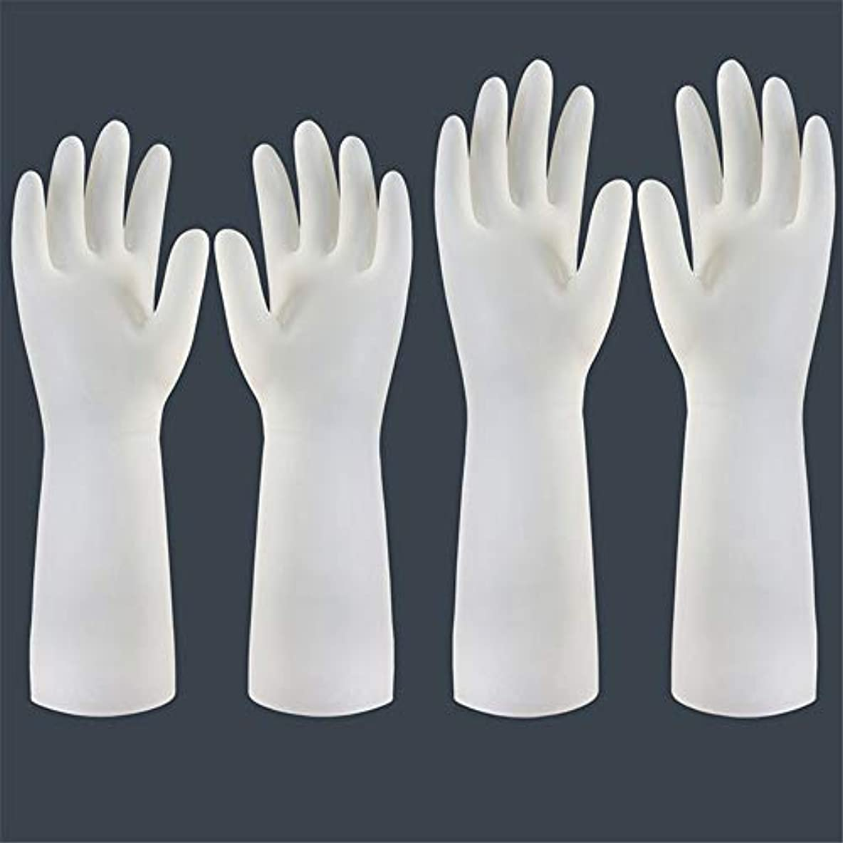 トロピカルメトリック不機嫌ニトリルゴム手袋 使い捨て手袋の防水および耐久のゴム製台所手袋、小/中/大 使い捨て手袋 (Color : Short+long, Size : M)