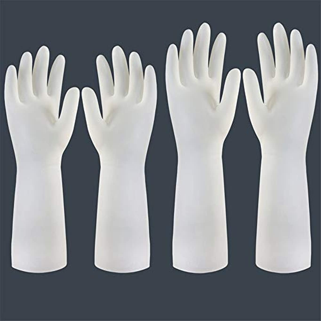 推進回転する警察ニトリルゴム手袋 使い捨て手袋の防水および耐久のゴム製台所手袋、小/中/大 使い捨て手袋 (Color : Short+long, Size : M)