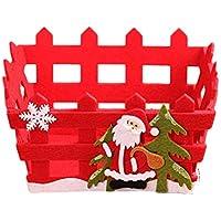 OUNONA サンタクロース キャンディストレージ バスケット クリスマス フルーツコンテナ ギフトボックス クリスマスパーティーデコレーション(赤)