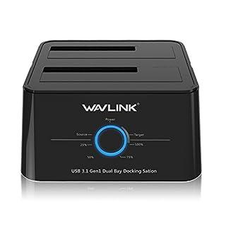 Wavlink USB 3.1タイプ C(USB C) SATAデュアルベイ外付けハードドライブドッキングステーション
