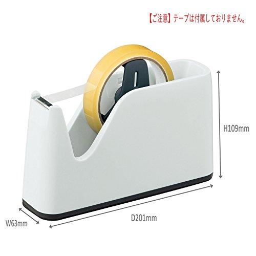 ライオン事務器 テープカッター No.350N-LH ライトグレー