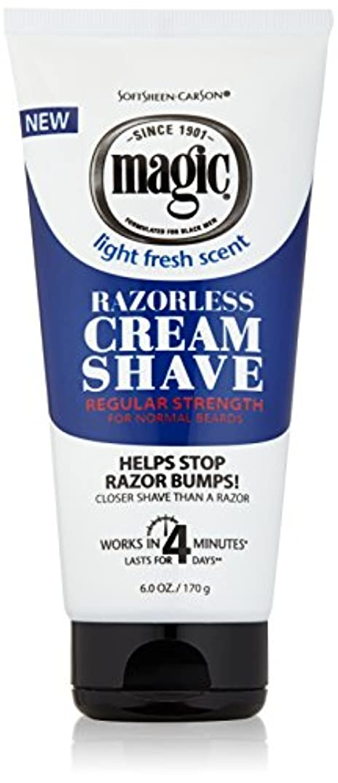 お風呂を持っている毒液政治SoftSheen-Carson Softsheenカーソンマジック正規Razorlessクリームシェービング6オズ(6パック)
