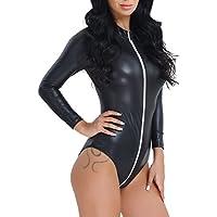 iiniim Women's Lingerie Zippered Bodysuit Jumpsuit Catsuit Clubwear