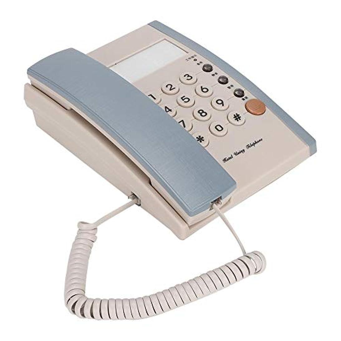 メロドラマティックグリース矢固定電話機 Mugast 一時停止機能 デスク 有線電話機 ホーム オフィス ホテル用(ブルー)