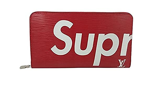 71f5469c5b46 Amazon   シュプリーム Supreme × ルイヴィトン コラボ メンズ 長財布 ファスナー付   財布   財布
